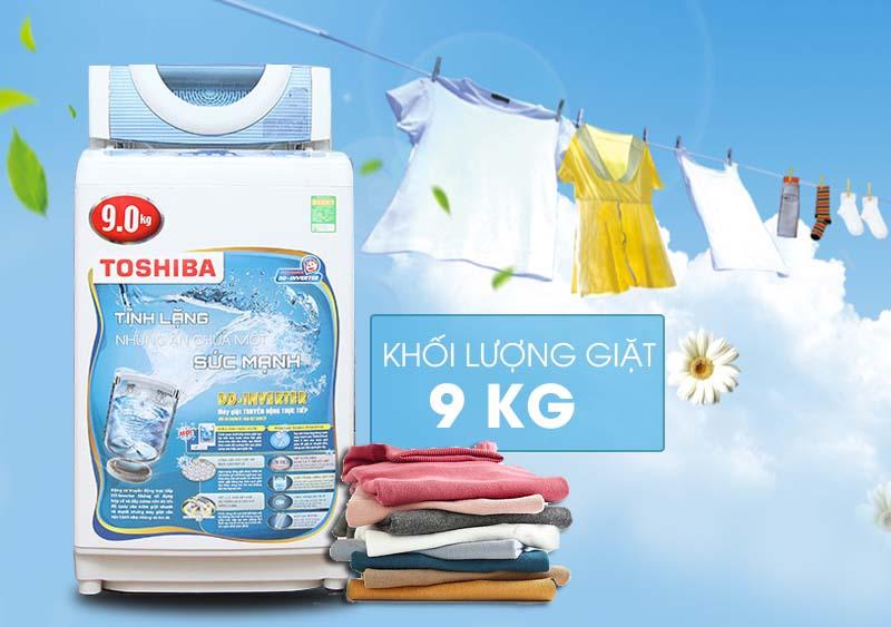 Máy giặt Toshiba AW-DC1005CV có thiết kế sang trọng, sở hữu nhiều công nghệ độc đáo cho người dùng
