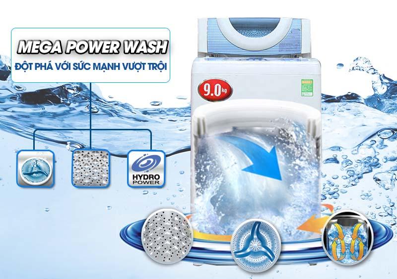 Công nghệ mâm giặt Mega Power của máy giặt Toshiba AW-DC1005CV với ba cánh siêu bền