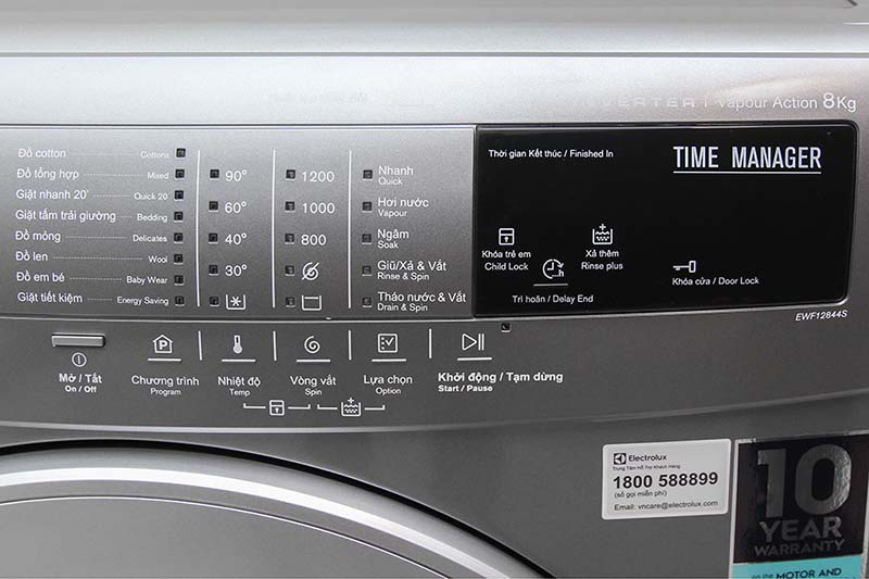 Chương trình giặt đa dạng