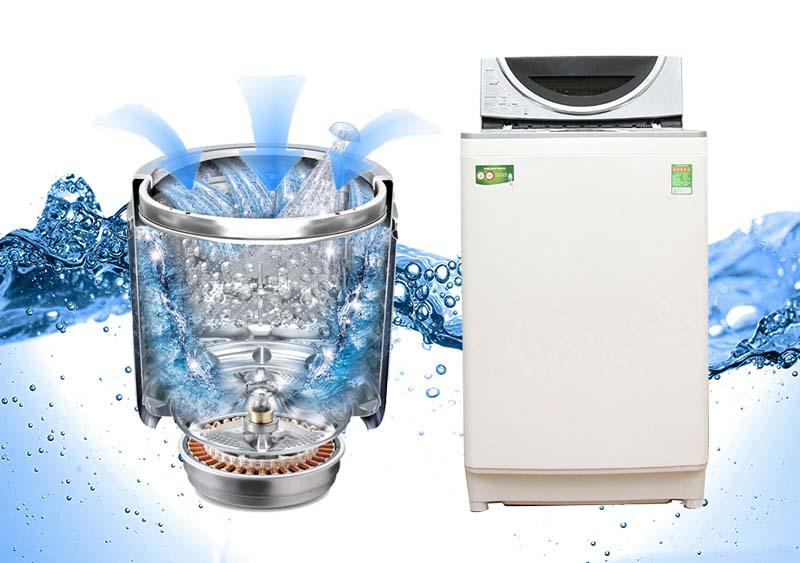 Công nghệ S-DD Inverter truyền động trực tiếp đặc biệt của máy giặt Toshiba AW-DE1100GV(WS) giảm tối đa những chi tiết máy không cần thiết