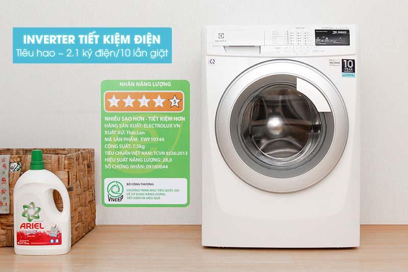 Máy giặt Electrolux EWF10744 tiết kiệm điện tối ưu