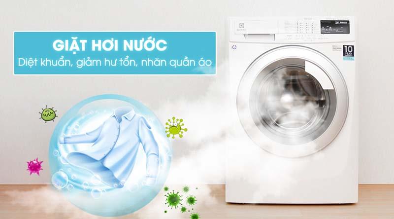 Máy giặt Electrolux EWF10744 với chức năng giặt hơi nước