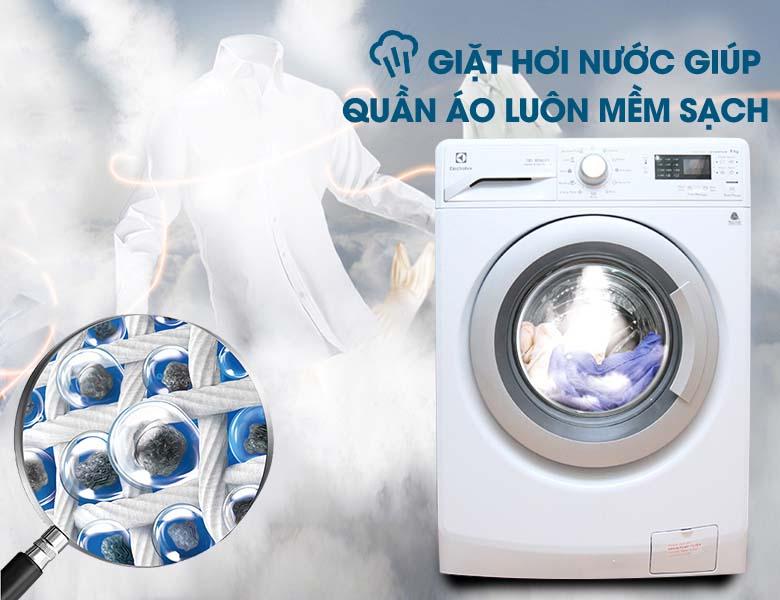 Công nghệ giặt hơi nước Vapour Action cho hiệu quả giặt sạch