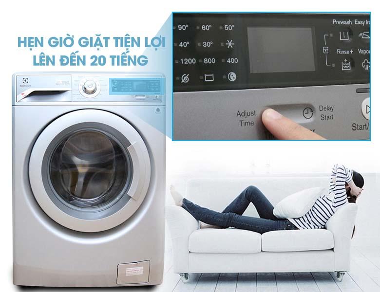 Chức năng hẹn giờ giặt lên đến 20 tiếng
