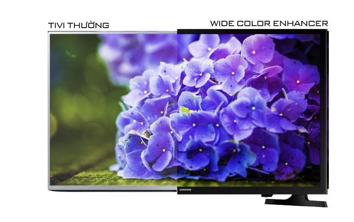 Tivi LED Samsung UA32J4003 32 inch - Sống động và chân thực trong từng khung hình với công nghệ Wide Color Enhancer