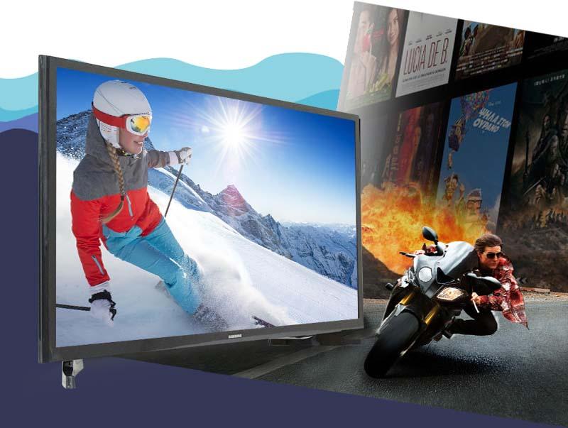 Tivi LED Samsung UA32J4003 32 inch - Tần số quét 100 Hz sẽ mang đến cho bạn những hình ảnh sắc nét và mượt mà nhất, hạn chế tối đa tình trạng nhòe, nhiễu hình