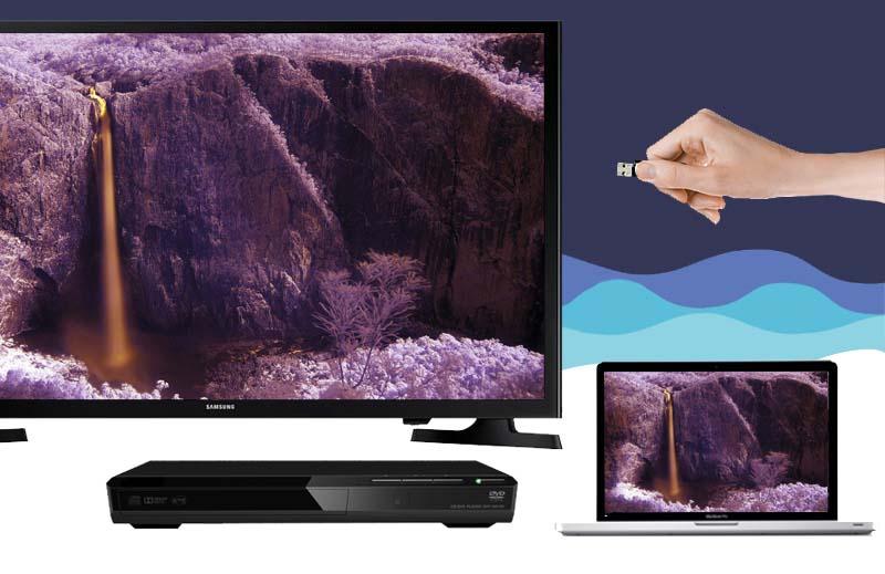 Tivi LED Samsung UA32J4003 32 inch - Kết nối linh hoạt với các thiết bị ngoài như laptop, đầu DVD,…