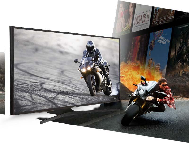Tivi LED Samsung UA48J5000 48 inch - Tận hưởng những bộ phim bom tấn, các chương trình thể thao mà không lo bị giật hình với tần số quét 100 Hz