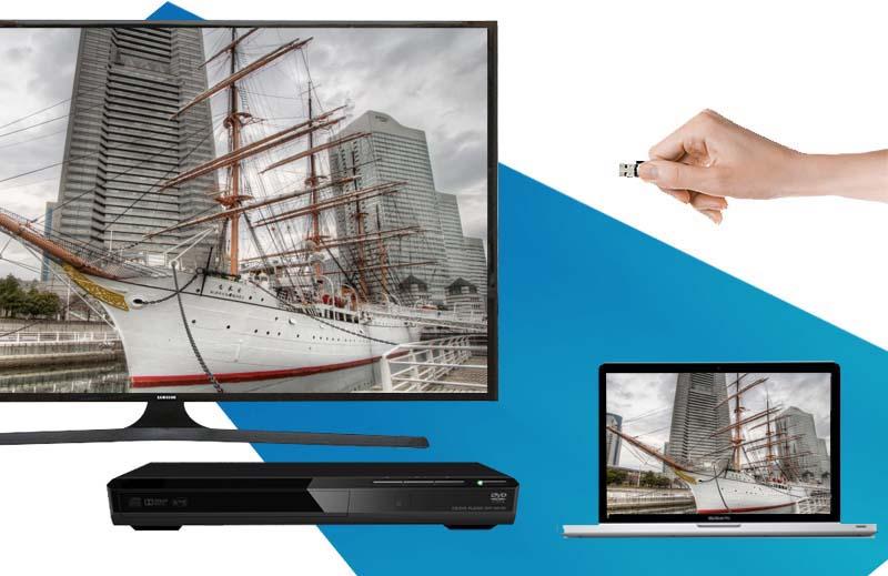 Tivi LED Samsung UA48J5000 48 inch - Kết nối tiện lợi với nhiều thiết bị ngoài như laptop, đầu DVD, USB,…
