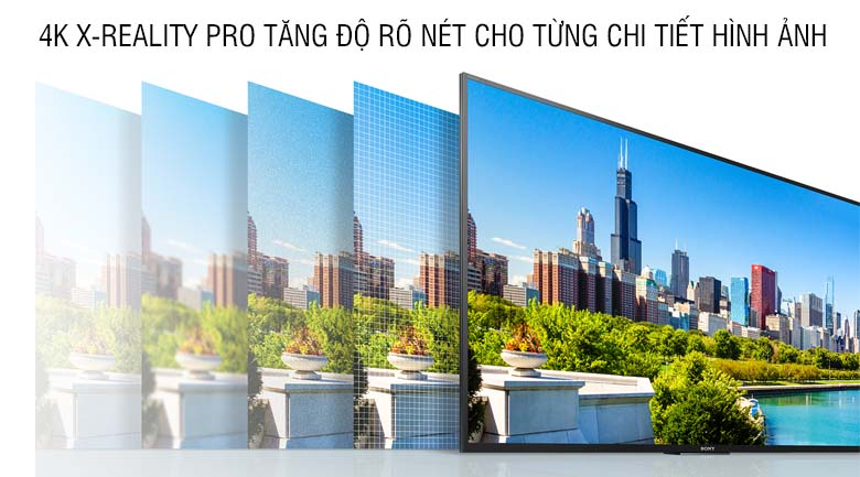 4K X-Reality Pro tăng độ rõ nét