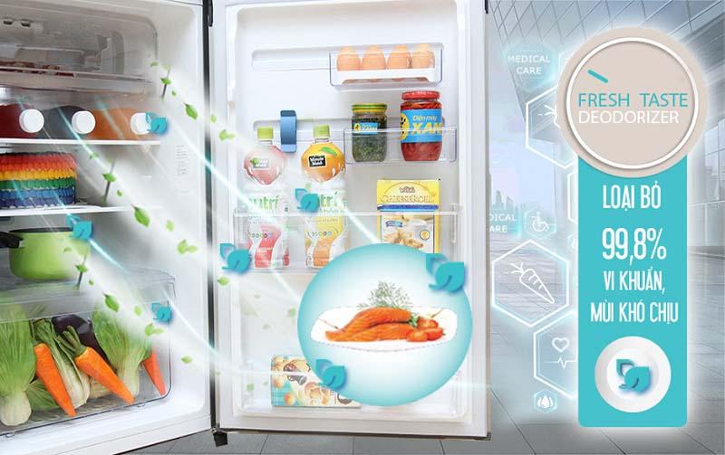 FreshTaste của tủ lạnh Electrolux ETB2100MG sử dụng các tính năng khử mùi và diệt khuẩn hiệu quả