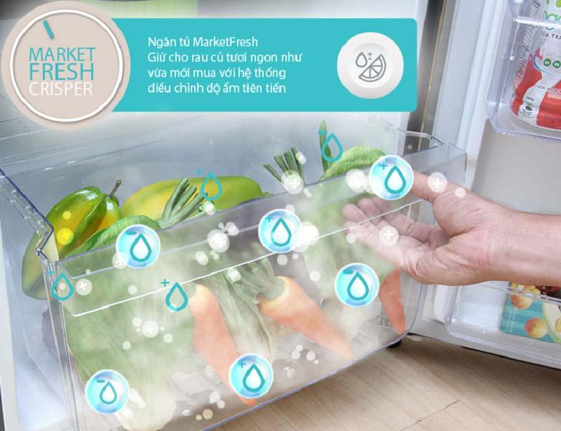 Tủ lạnh Electrolux ETB2100MG sở hữu ngăn rau củ MarketFresh