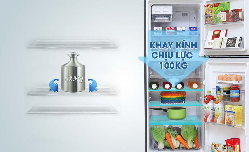 Electrolux ETB2100MG đảm bảo rằng bạn có thể đựng những thực phẩm nặng mà vẫn không gây ra hỏng hay bể kính