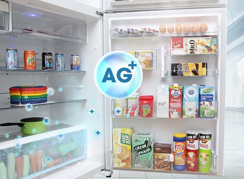 Ngăn rau củ với Ag+ giúp rau củ tươi lâu