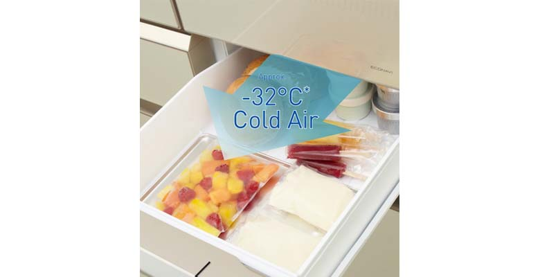 Ngăn làm lạnh nhanh làm lạnh nhanh hơn, ngay cả thực phẩm nóng