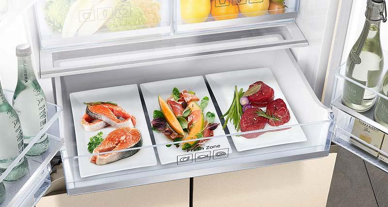 Thực phẩm luôn tươi ngon với ngăn bảo quản Fresh Zone