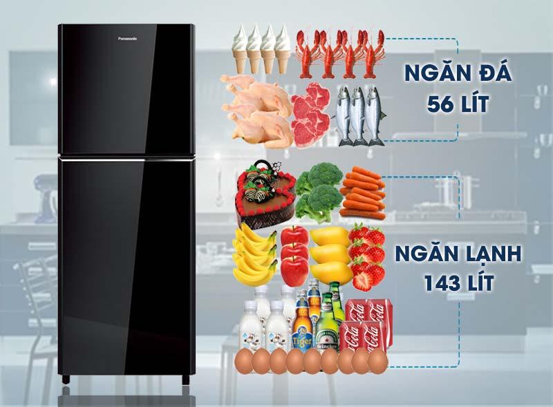 Tủ lạnh Panasonic 199 lít NR-BN211GKVN