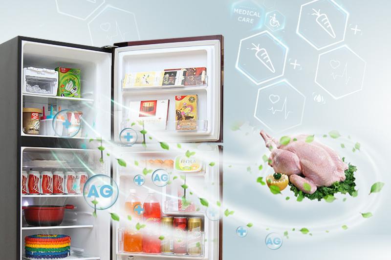 Tủ lạnh Panasonic 186 lít NR-BN201GAVN có khả năng kháng khuẩn, khử mùi