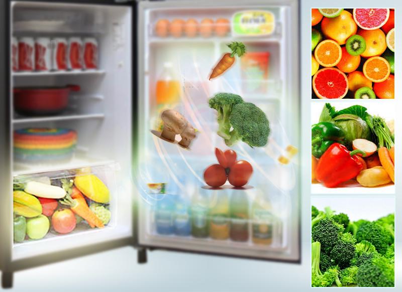 Ngăn rau quả có khả năng giữ ẩm của tủ lạnh Panasonic 186 lít NR-BN201GAVN