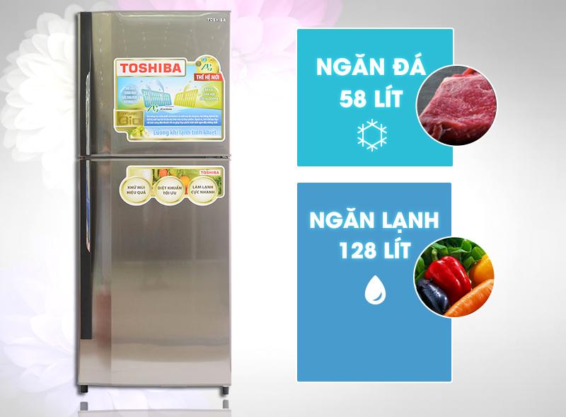 Với thiết kế sang trọng cùng dung tích 186 lít của mình, tủ lạnh Toshiba GR-S21VUB sẽ thích hợp cho các gia đình có từ 3 đến 5 thành viên