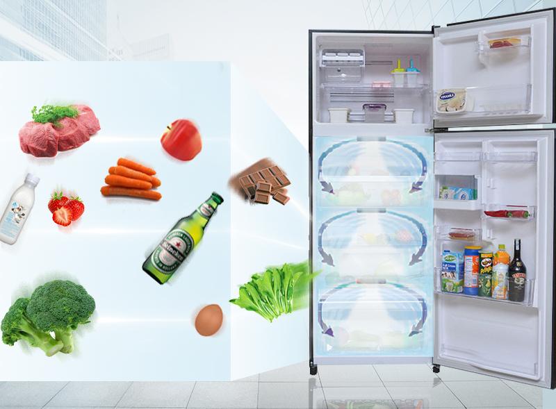 Công nghệ khí lạnh vòng cung giúp làm lạnh đồng đều