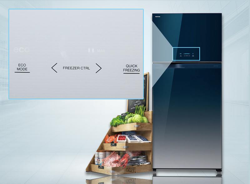 Thiết kế bảng điều khiển cảm ứng bên ngoài tủ lạnh