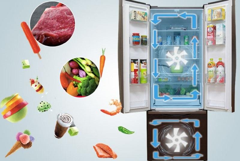 Tủ lạnh Hitachi R-WB475PGV2 sở hữu công nghệ làm lạnh quạt kép