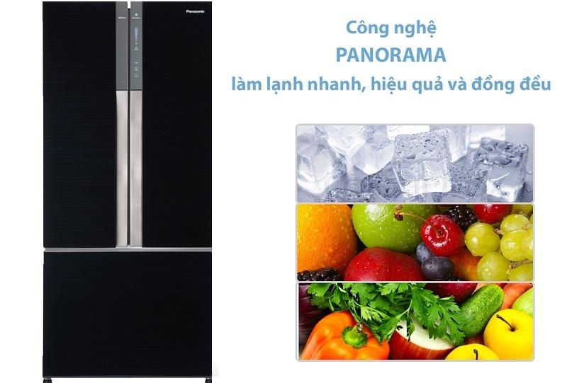 Công nghệ làm lạnh Panorama độc quyền Panasonic làm lạnh đồng đều hiệu quả