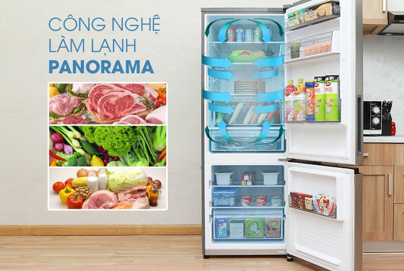 Khí lạnh đều khắp mọi vị trí với hệ thống làm lạnh Panorama