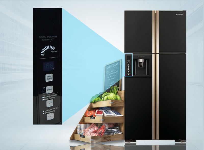Bảng điều khiển bên ngoài tủ lạnh
