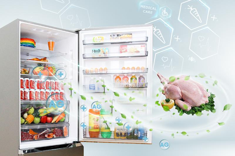 ệ Ag Clean đem đến cho tủ lạnh Panasonic NR-BY608XSVN khả năng kháng khuẩn, nấm mốc cao