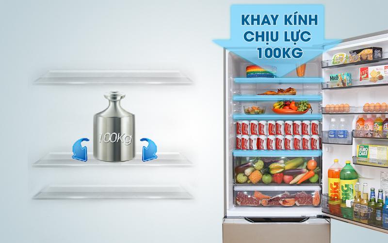 Tủ lạnh Panasonic NR-BY608XSVN có khay kính với khả năng chịu lực cao