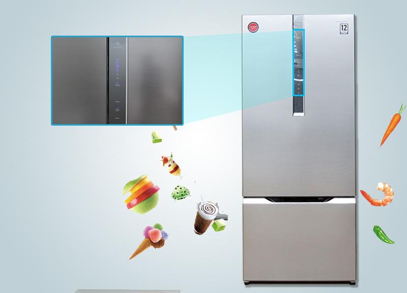 Với bảng điều khiển bên ngoài, bạn sẽ tùy chỉnh nhiệt độ, cũng như các chế độ của tủ lạnh Panasonic NR-BY608XSVN được dễ dàng và nhanh chóng hơn