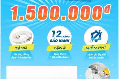 Daikin khuyến mãi lớn nhất cho khách hàng Điện Máy Giá Gốc