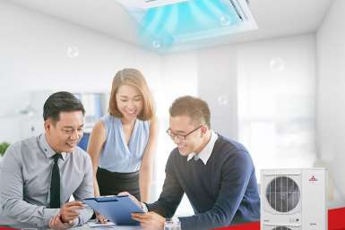 Hệ thống inverter Multi - Mitsubishi Heavy Industries - Tiết kiệm điện, tiết kiệm diện tích