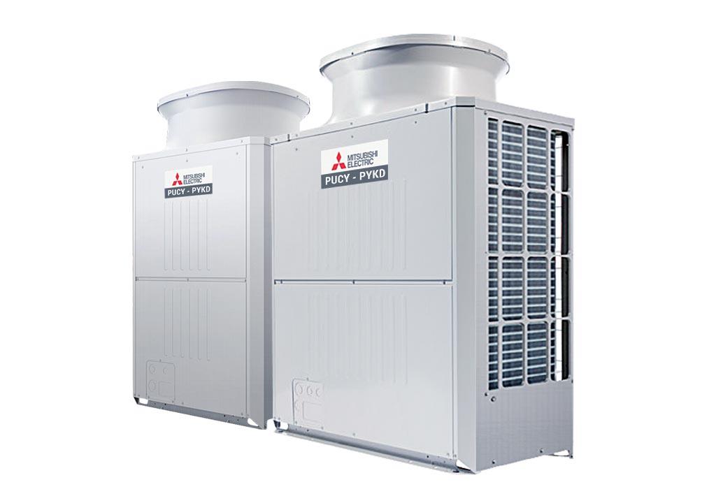 Tổ hợp dàn nóng giải nhiệt gió Mitsubishi Electric inverter (24.0Hp) PUCY-P600YSKD (-BS) (PUCY-P250YKD.TH + PUCY-P350YKD.TH)