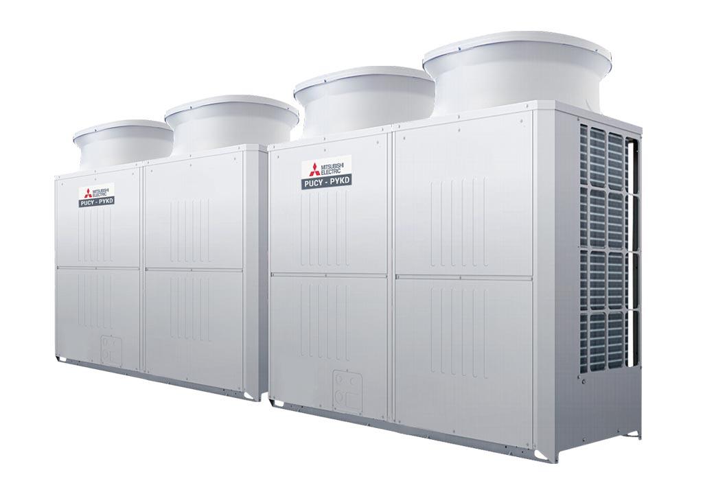 Tổ hợp dàn nóng giải nhiệt gió Mitsubishi Electric inverter (40.0Hp) PUCY-P1000YSKD (-BS) (PUCY-P500YKD.TH + PUCY-P500YKD.TH)