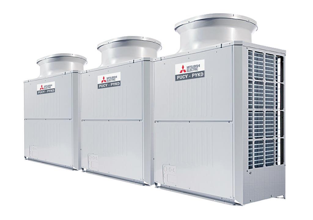 Tổ hợp dàn nóng giải nhiệt gió Mitsubishi Electric inverter (54.0Hp) PUCY-P1350YSKD (-BS) (PUCY-P450YKD.TH + PUCY-P450YKD.TH + PUCY-P450YKD.TH)