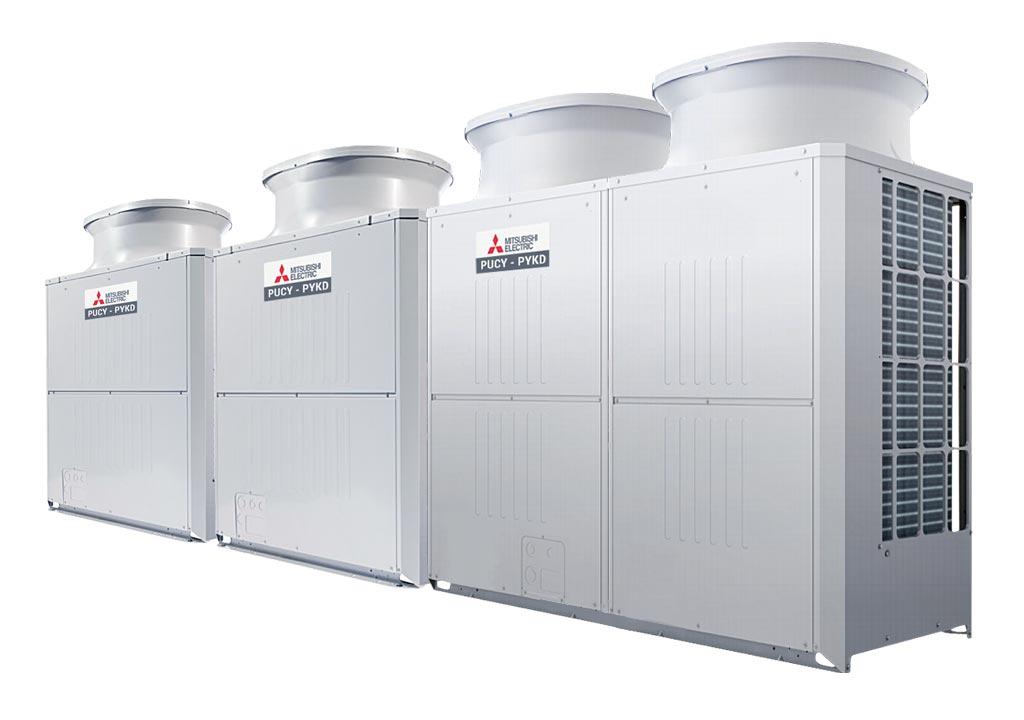 Tổ hợp dàn nóng giải nhiệt gió Mitsubishi Electric inverter (56.0Hp) PUCY-P1400YSKD (-BS) (PUCY-P450YKD.TH + PUCY-P450YKD.TH + PUCY-P500YKD.TH)