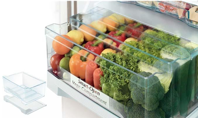 Tủ lạnh Hitachi 415 lít R-B505PGV6 (GBK) ngăn rau quả thông minh