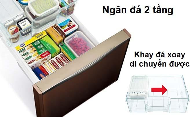 Tủ lạnh Hitachi 415 lít R-B505PGV6 (GBK) ngăn đá 2 tầng