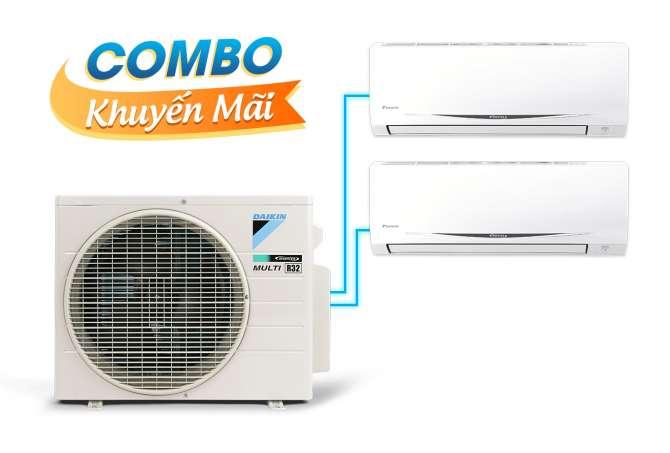 (Combo) Hệ thống điều hòa không khí Multi S Daikin MKC50RVMV/CTKC25RVMV+CTKC35RVMV Inverter 2.0 HP