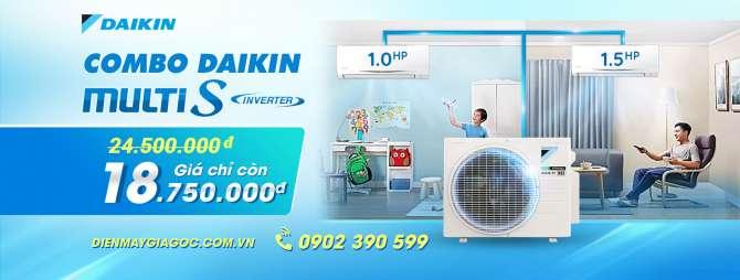 Máy lạnh Multi S Daikin MKC50RVMV/CTKC25RVMV+CTKC35RVMV Inverter 2.0 HP (Combo khuyến mãi)