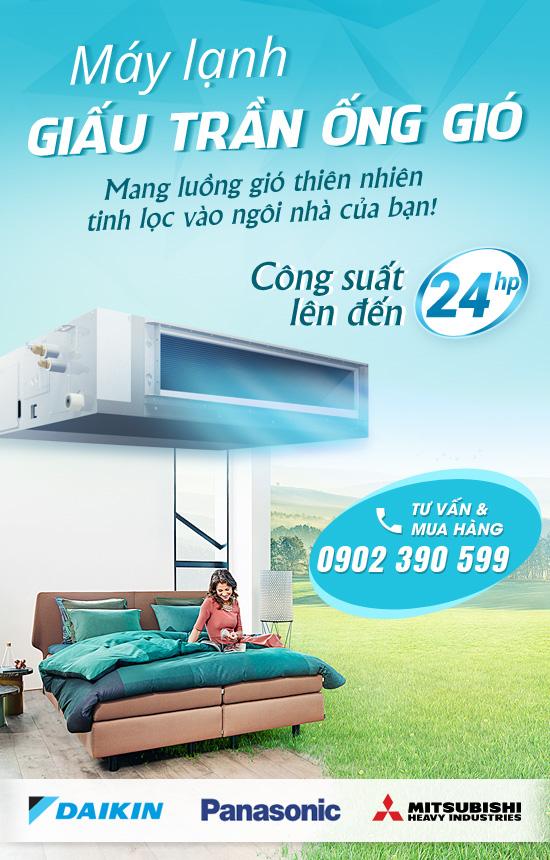 Máy lạnh giấu trần ống gió Daikin inverter