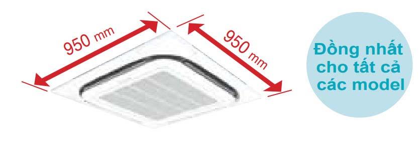 Máy lạnh âm trần Daikin FCF125CVM-3 pha (5.0Hp) Inverter Gas R32