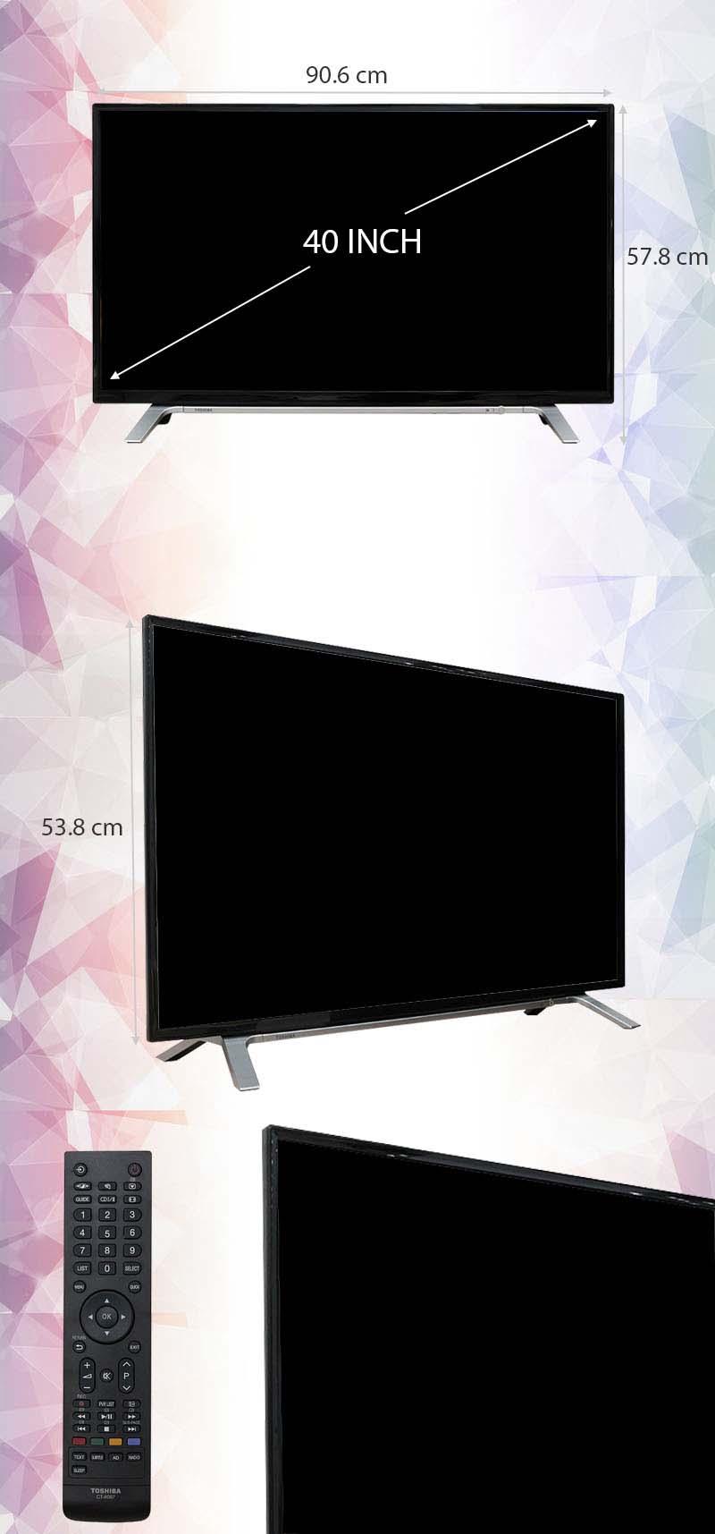 Tivi Toshiba 40 inch 40L3650 - Kích thước tivi